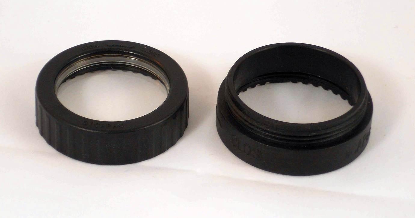 Ersatzteil-Set DiCAPac WP-One Schraublinse/Linsenkappe für Objektivtubus mit Verlängerungsstück