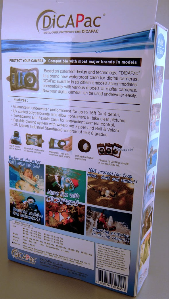 DiCAPac WP-700 mit Kamera