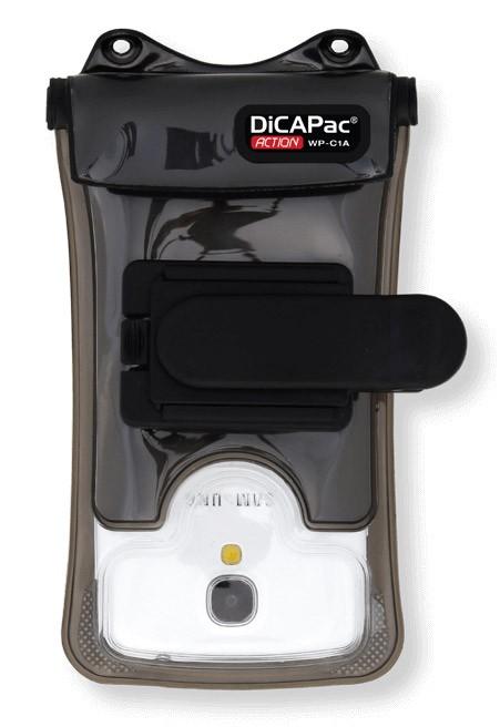 DiCAPac Action WP-C1A wasserdichte Handyhülle mit Clip-Halterung - Vorderseite