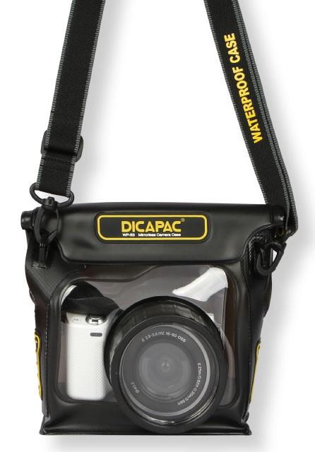 DiCAPac WP-S3 wasserdichtes Case für Spiegellose Systemkameras mit Wechselobjektiv