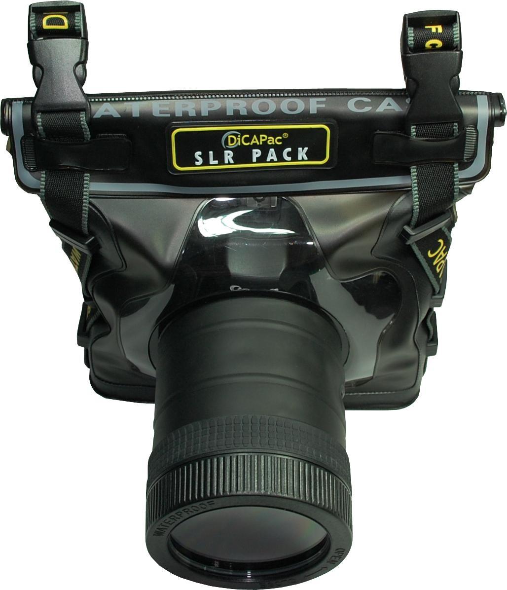 DiCAPac WP-S10 Spiegelreflexkamera Unterwassergehäuse seite mit kamera