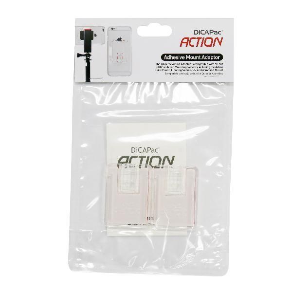 DiCAPac Action DP-1P - Universal Adapter für DiCAPac Action Halterungssystem - Produktbild mit Anwendungsbeispiel