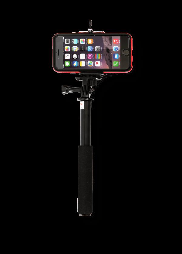 DiCAPac Action DP-1M Smartphone Selfie Stick mit Halterung für Smartphone Unterwassertaschen - Produktbild