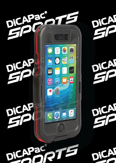 DiCAPac WS-i6s wasserdichtes iPhone 6 Handy Case für iPhone 6 & 6s - Grau - vorne