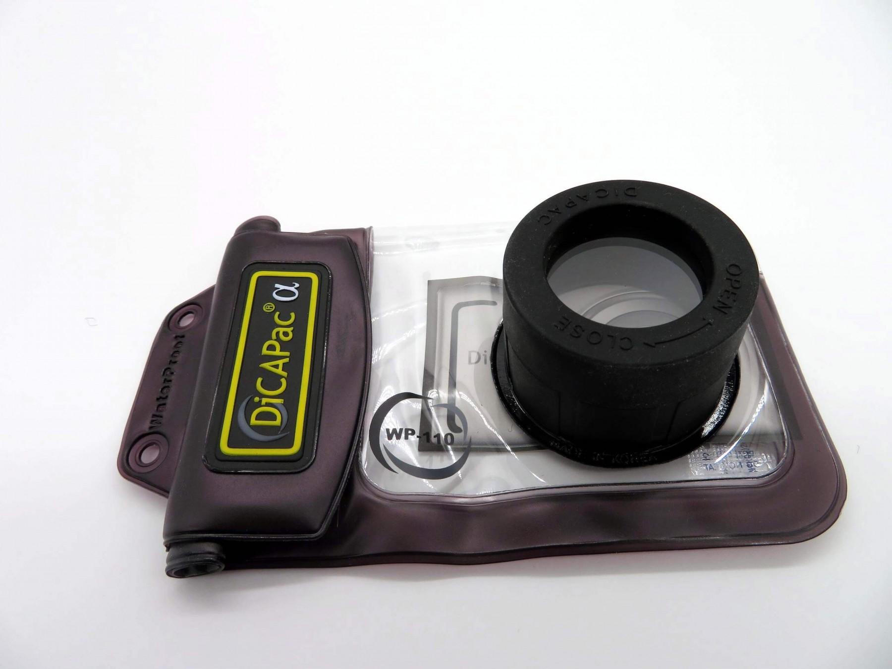 wasserdichte Kamerahülle DiCAPac WP-110 - fertig verpackte kamera