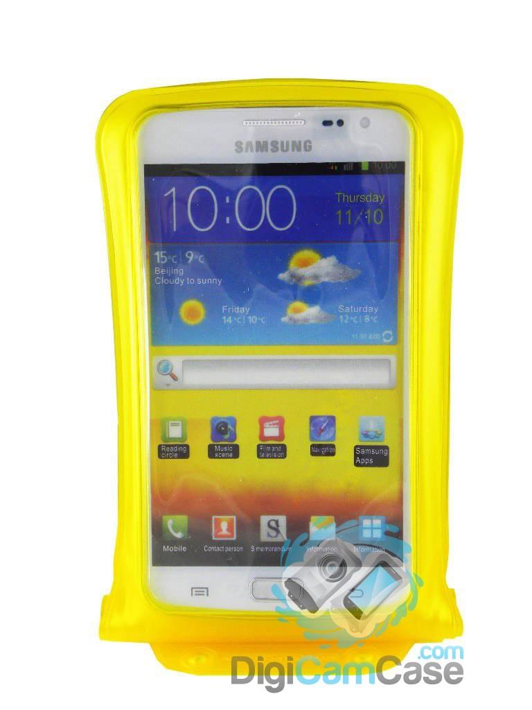 DiCAPac WP-C2 wasserdichte Foto Handyhülle für große Smartphones - blau