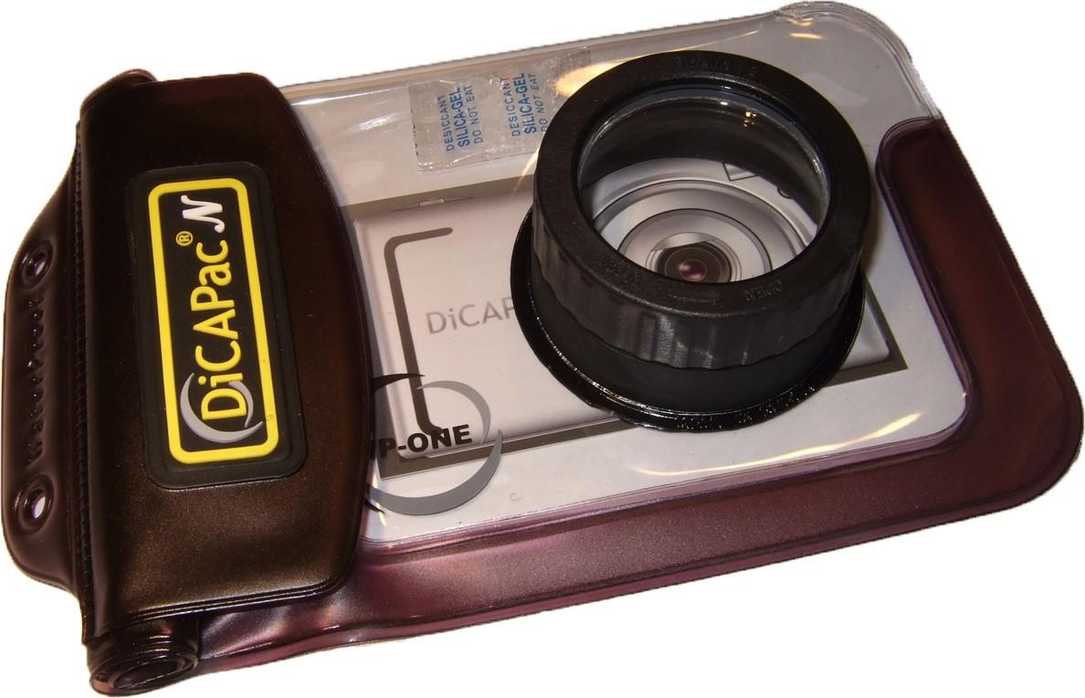 DiCAPac WP-One wasserdichte Fototasche für fast alle kompakten Kameras - ohne Kamera