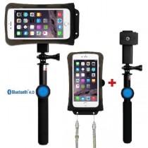 DiCAPac Action DRS-C2 wasserdichtes Smartphone Hüllen Set - mit Bluetooth Selfie Stick