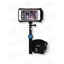 Set Wasserdichte Outdoor Handyhülle + Bluetooth Selfie Stick - DiCAPac Action DARS-C2