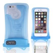 DiCAPac WP-i10 wasserdichte iPhone Hülle in blauer Farbe