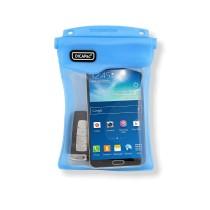 Dicapac WP-M45 Unterwasser Schutzhülle für Smartphones mit sehr großem Display - blau - vorne