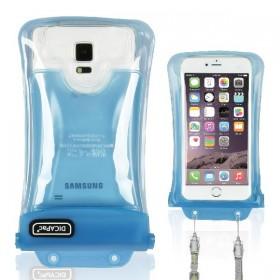 DiCAPac WP-C2 Wasserdichtes Handy Case für Handys bis 80mm x 160 mm - neues Design - z.B. für Samsung Galaxy J7 Prime, Xiaomi Redmi Note 4 etc.