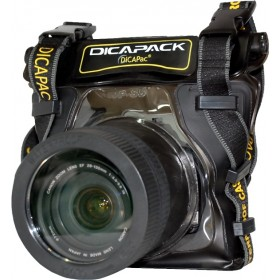 DiCAPac WP-S5 Waterproof Camera SLR Pack Underwatercase for e.g. Nikon D3300, D7100, Canon EOS 1200D, 100D, Sony alpha 58 and many others