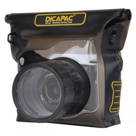 DiCAPac WP-S3 waterproof case for mirrorless system cameras / DSLM - interchangeable lenses supported