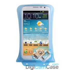 "DiCAPac WP-C2 Waterproof Phone Case for large Smartphones like Samsung Galaxy Note 1-4 up to 5.7"" (14cm) touchscreens"