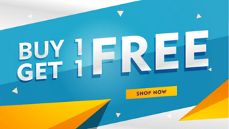 Buy 1 Get 1 Free Aktion