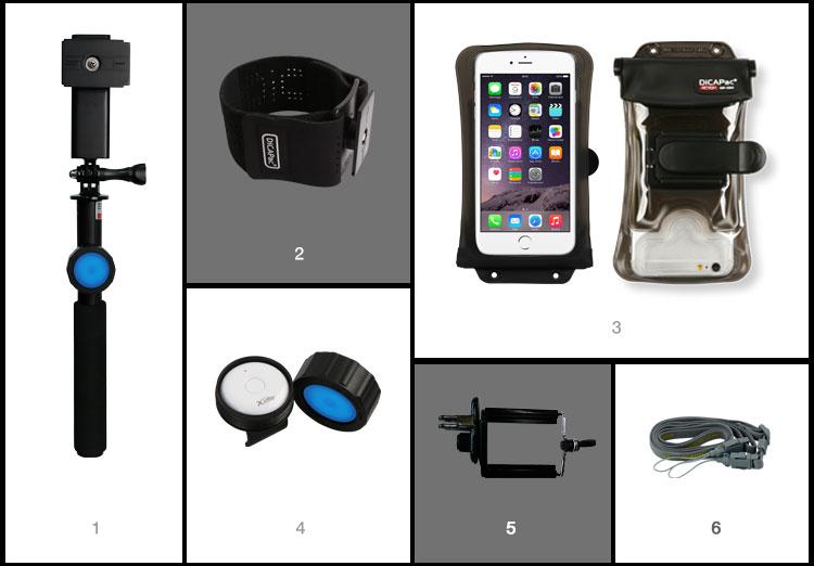 Lieferumfang Outdoor Handyhüllen Set DiCAPac Action DARS-C2