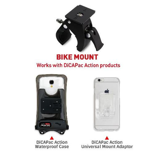DiCAPac Action DB C1 protective phone case Set with bike mount