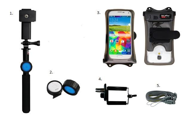 DiCAPac Action DRS-C2 wasserdichtes Smartphone Hüllen Set - Lieferumfang