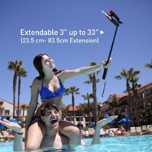 DiCAPac Action DRS C1 Outdoor Handy Schutzhüllen Set mit Selfie Stick und Universalhalter im Freibad