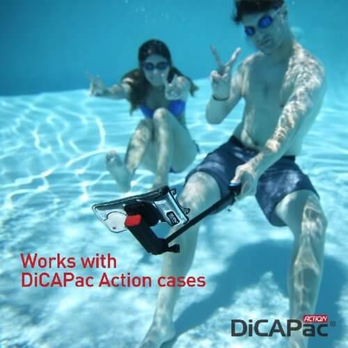 DiCAPac Action DRS C1 Outdoor Handy Schutzhüllen Set mit Selfie Stick und Universalhalter