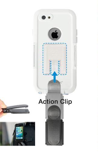 DiCAPac Sports WS-i6s iPhone 6 Hülle stoßfest wasserdicht - Action Clip und DP-1P Universalhalter zum Montieren auf einem DiCAPac Action Halter