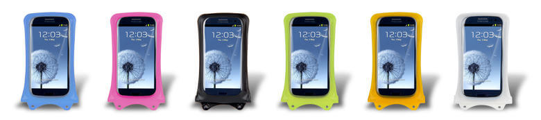 DiCAPac WP-C1 Waterproof Mobile Phone Case available in six colours